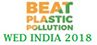 Logo of World Environment Day India 2018 website